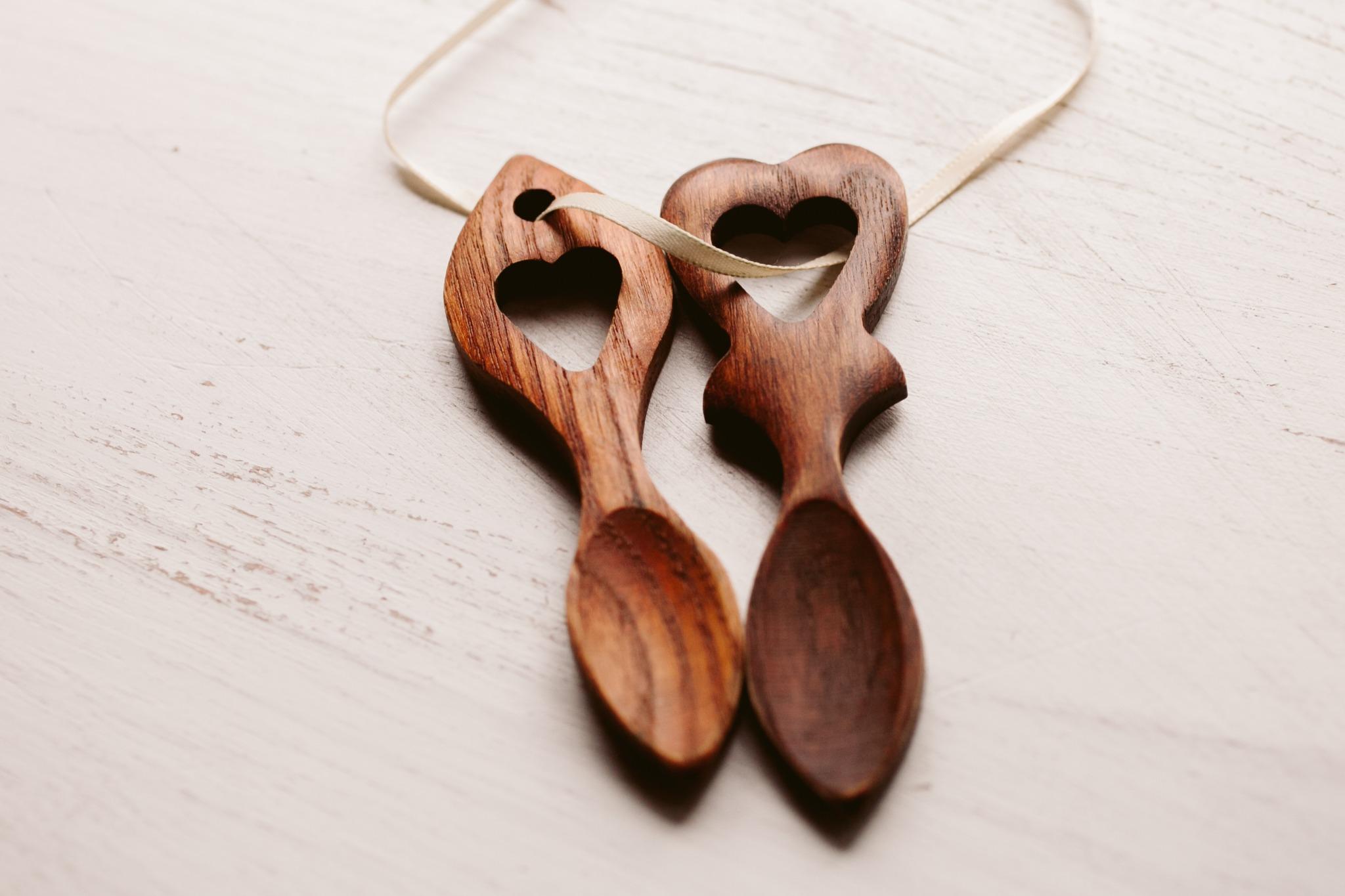 Wooden Welsh Love Spoons