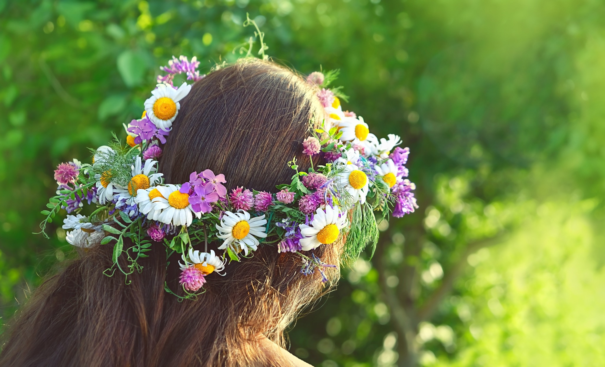 A flower crown is a great way to celebrate Beltane.