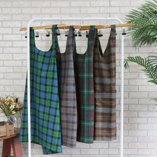 Tartan aprons from The Celtic Croft
