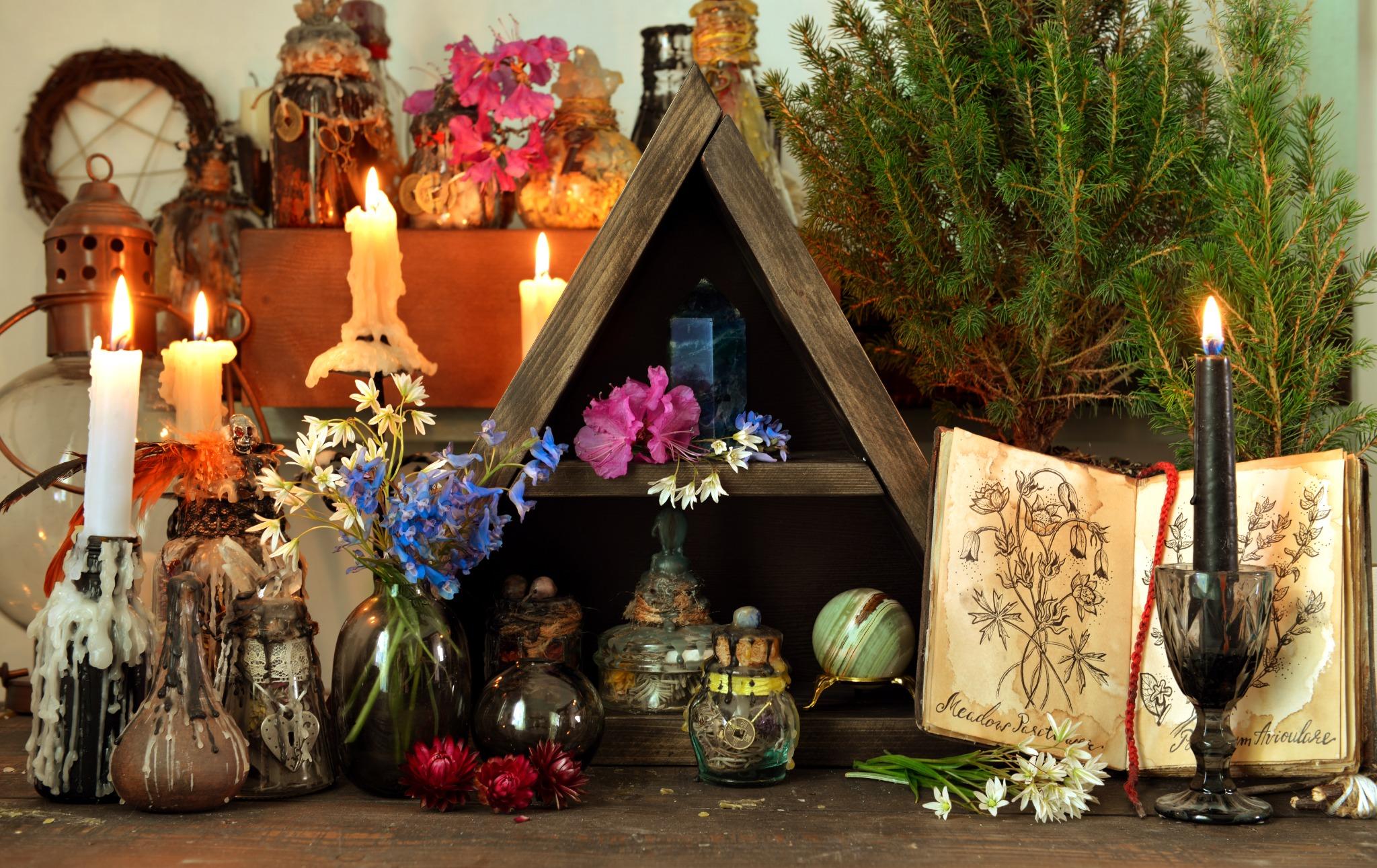 A shrine to celebrate Beltane.