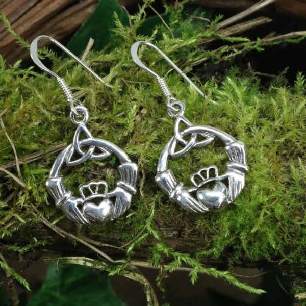 Claddagh hook earrings