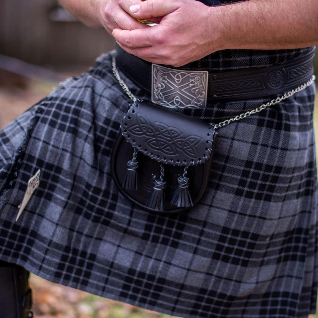 Saltire Antiqued Kilt Belt Buckle
