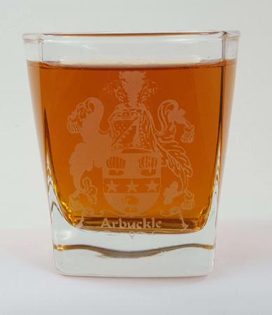 Arbuckle Coat of Arms Whisky Glass
