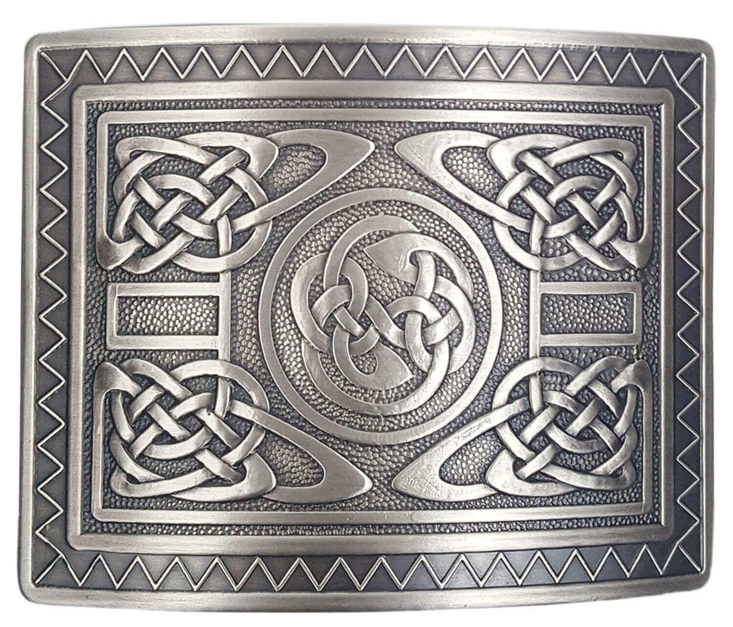 A Celtic knot belt buckle from The Celtic Croft