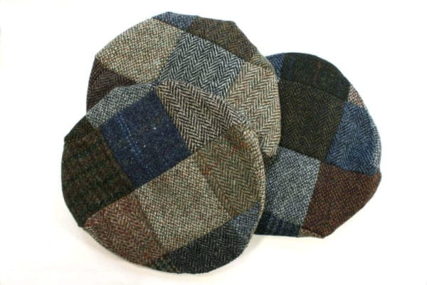 Harris Twee Patchwork Caps from The Celtic Croft