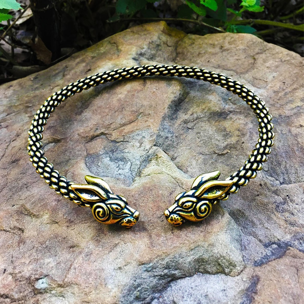 A rabbit torc necklace from the Celtic Croft