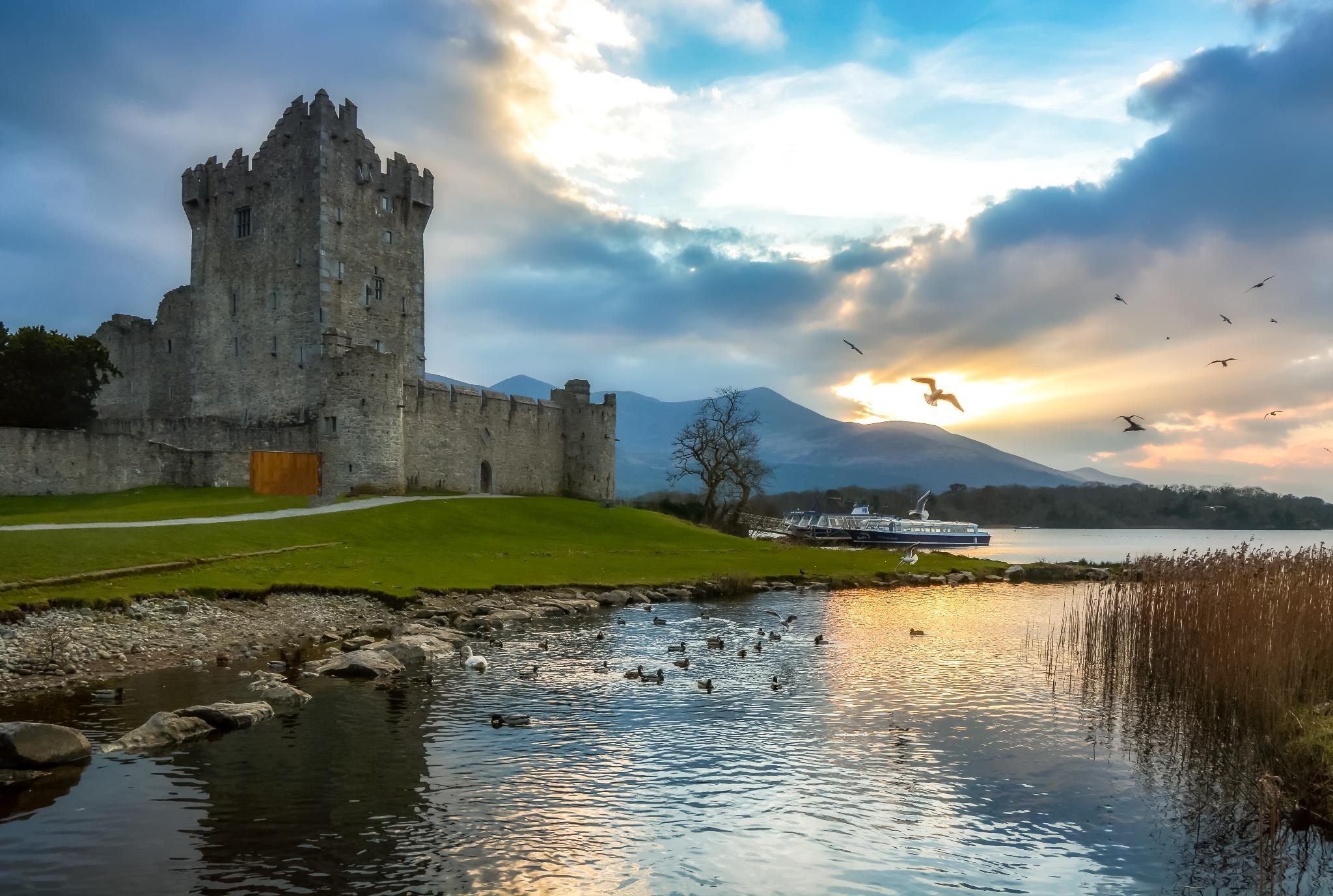 Ross Castle in Ireland.