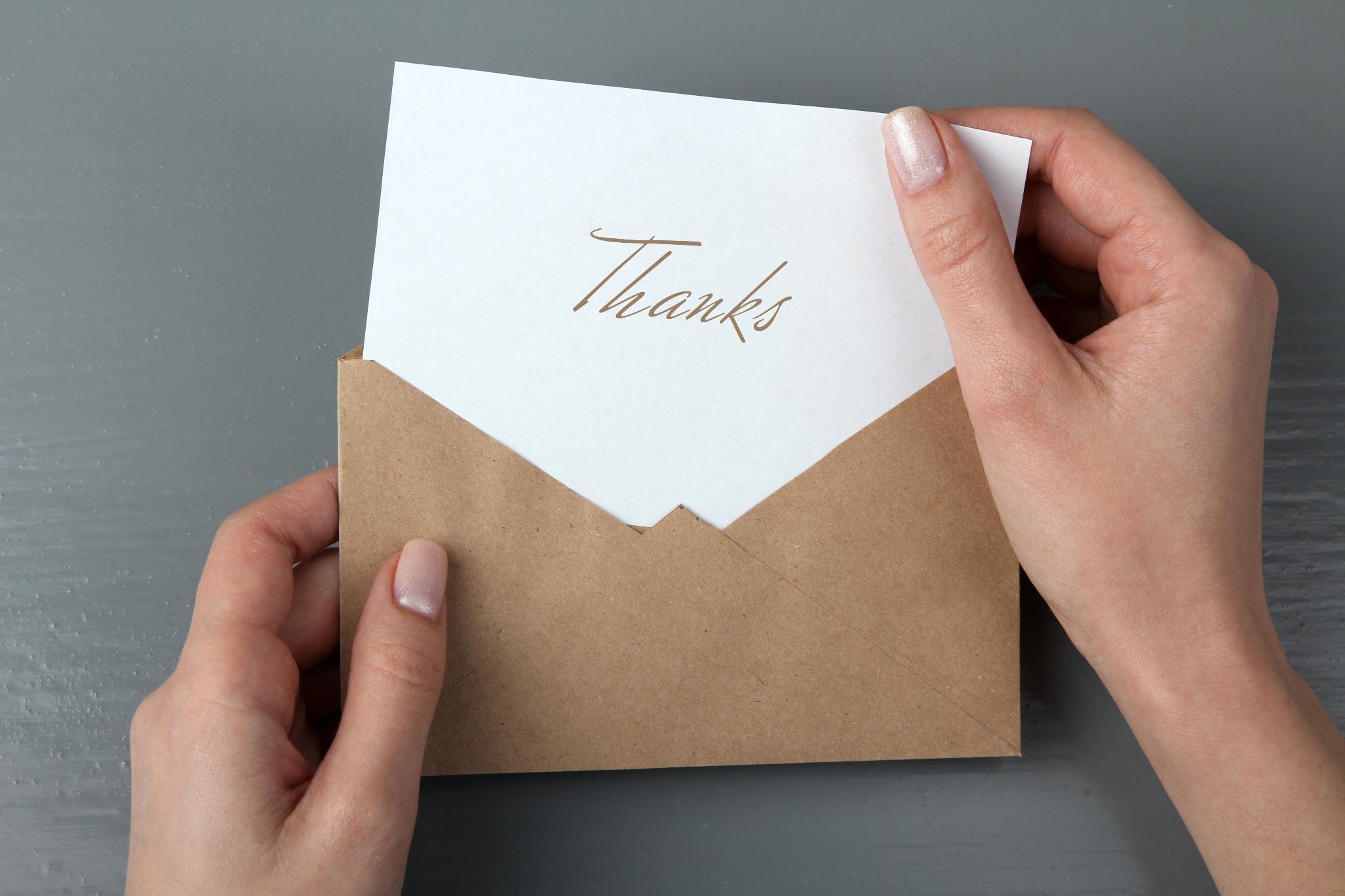 A thank card symbolizing the Welsh phrase Diolch Yn Fawr