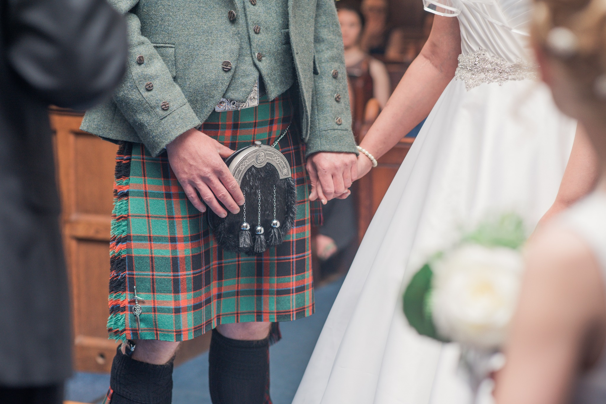 A Scottish Wedding without a handfasting ribbon