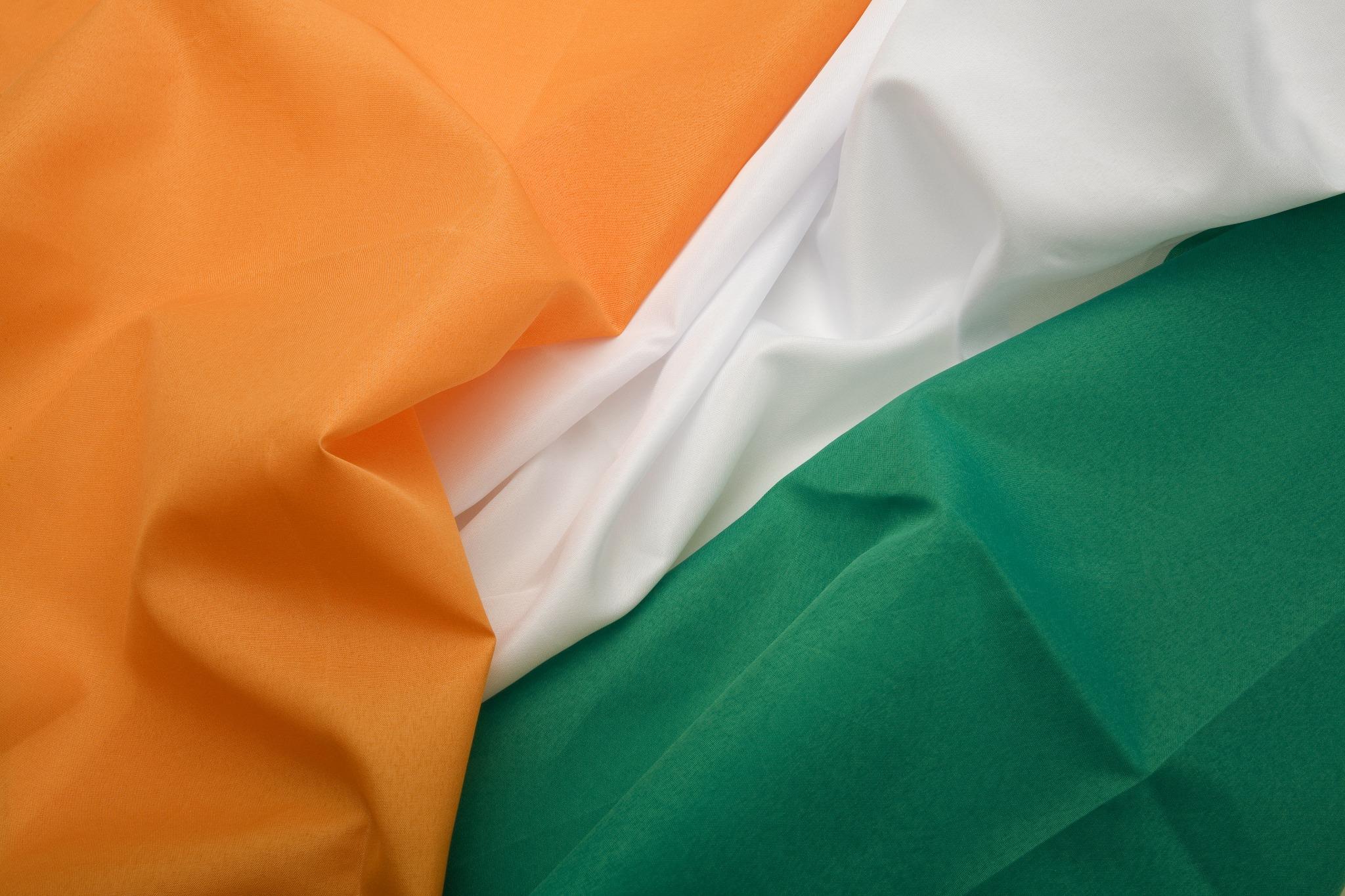 The tri-color Irish flag